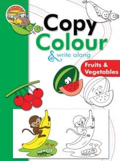 Copy Colour and Write Along Fruits and Vegetables
